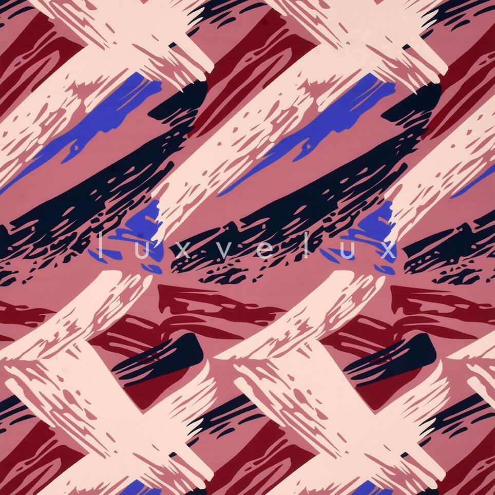 Brush Stroke Pattern Fuchsia Blue