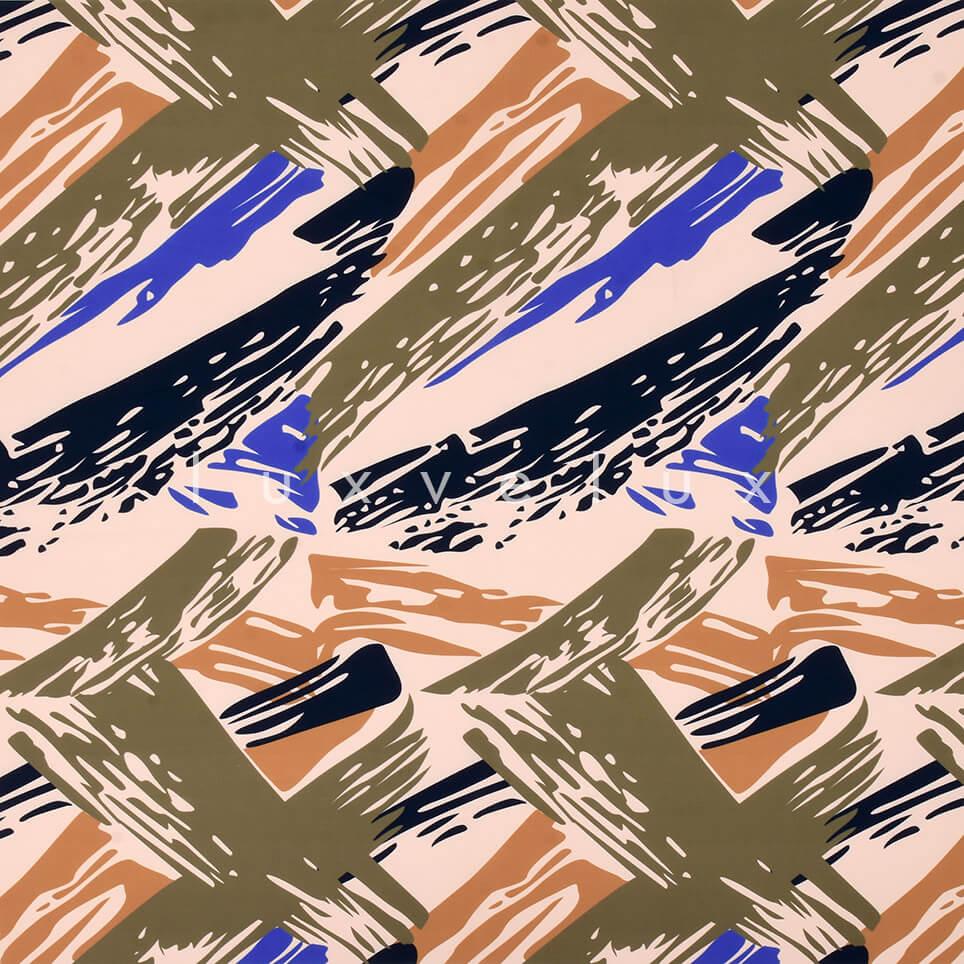 Brush Stroke Pattern Green Blue