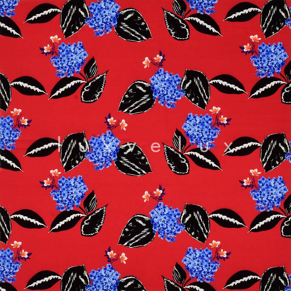 Carnation Pattern Red Backdrop