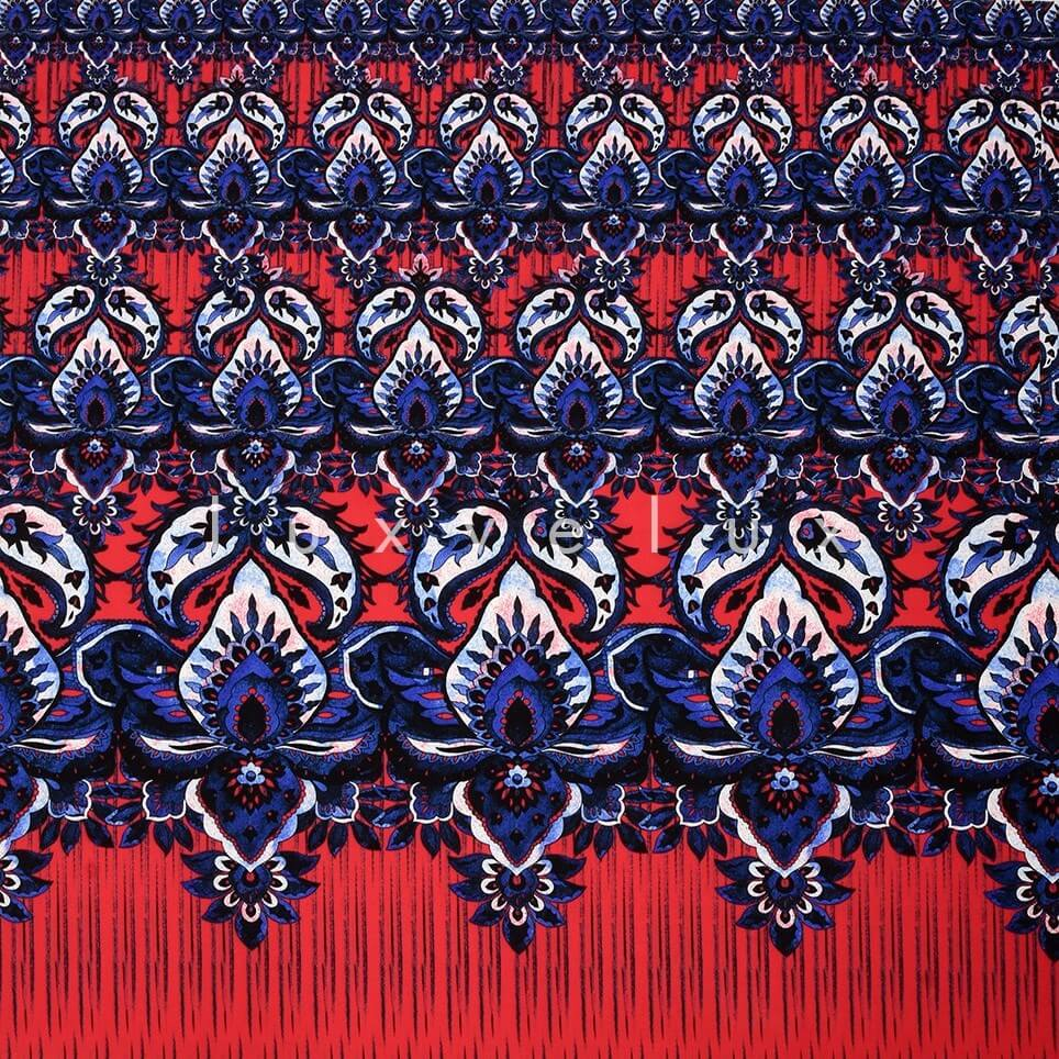 Curtain Pattern Red