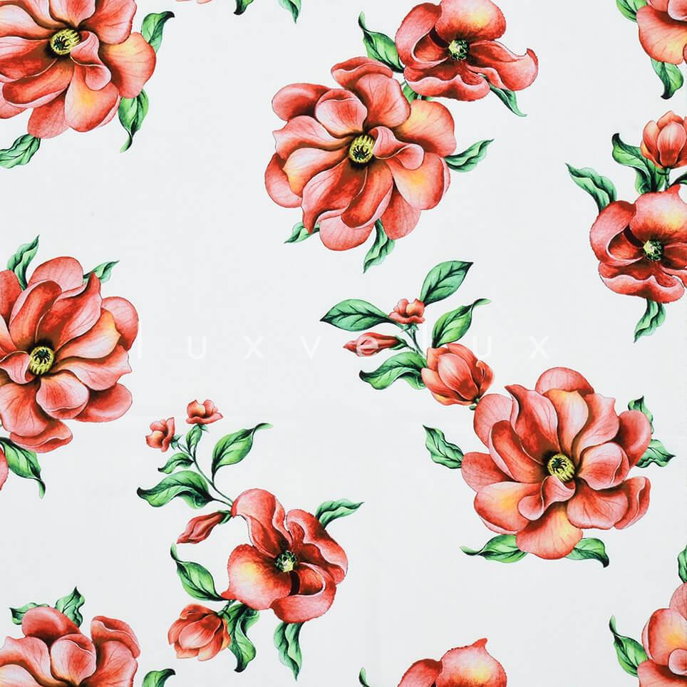 Desert Rose Pattern Ground White