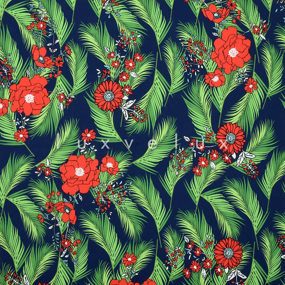 Feather Daisy Rose Ground Navy