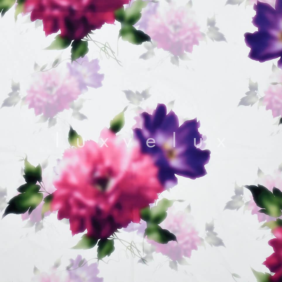 Floor White Pastel Pattern Fuchsia