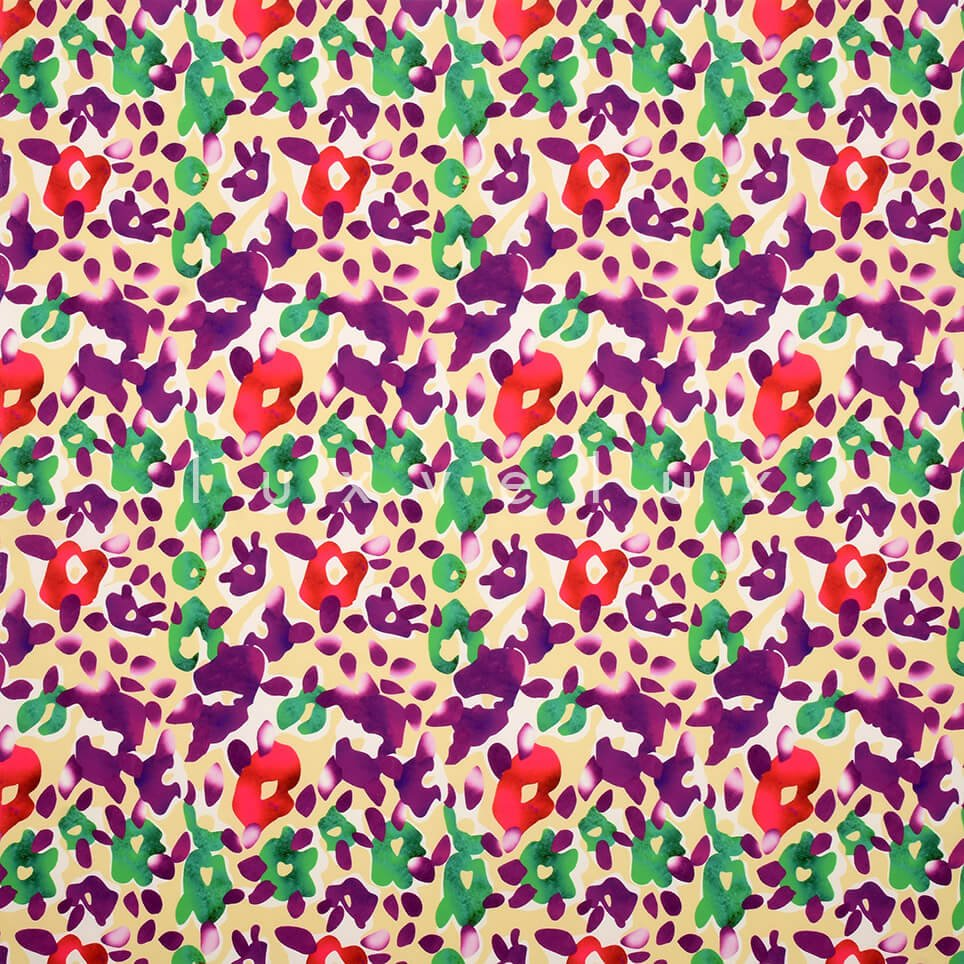 Flowers Motif on White Background