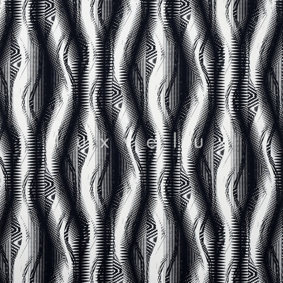 Fluid Pattern in Black and White