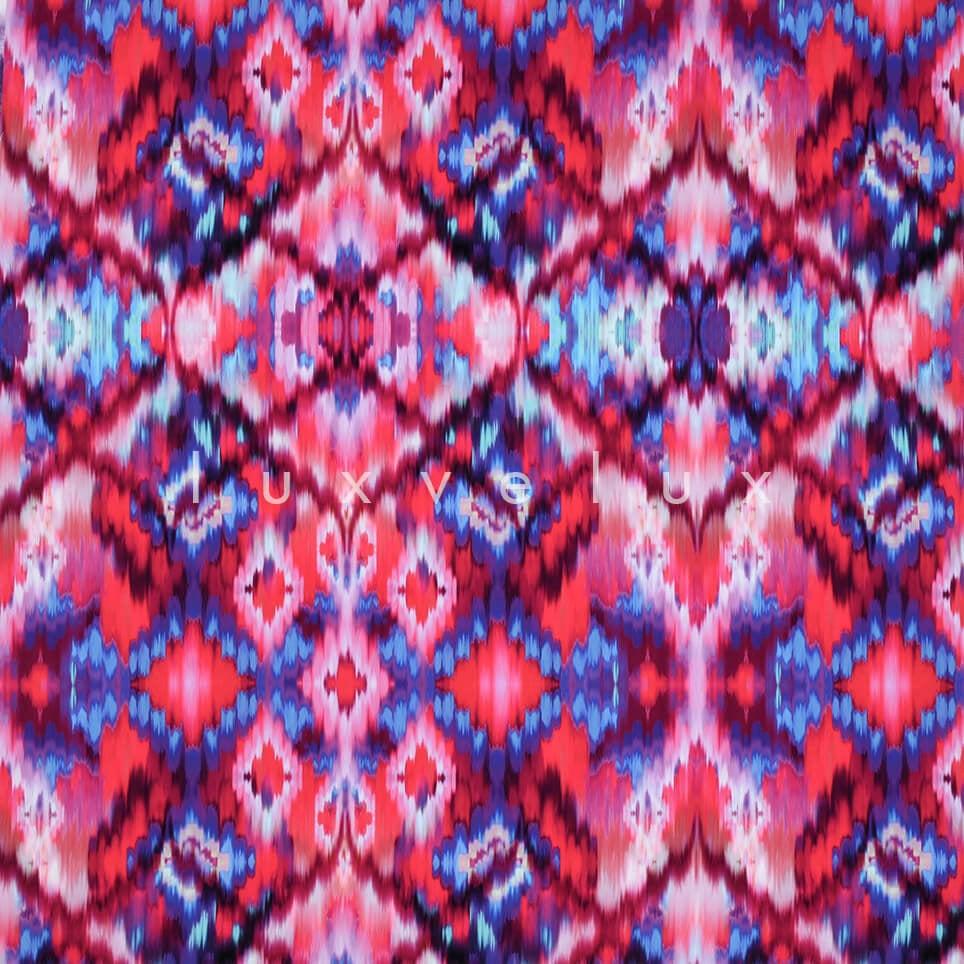 Fuchsia Backdrop Ethnic Pattern