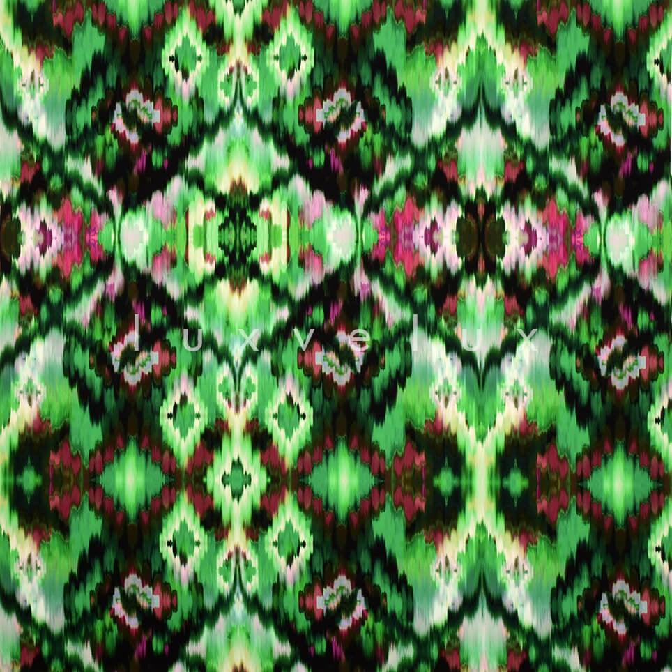 Green Backdrop Ethnic Pattern