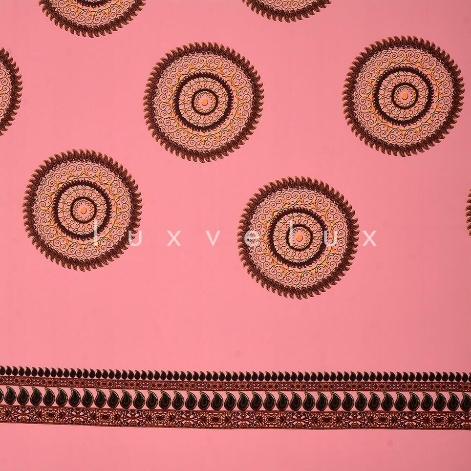 Ottoman Monogram Pink Background