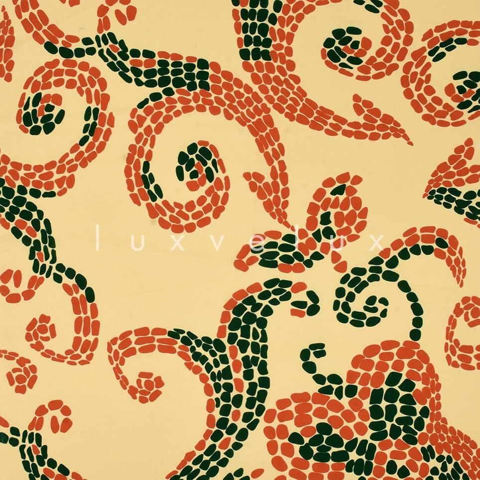 Ottoman Pattern Yellow Green Floor