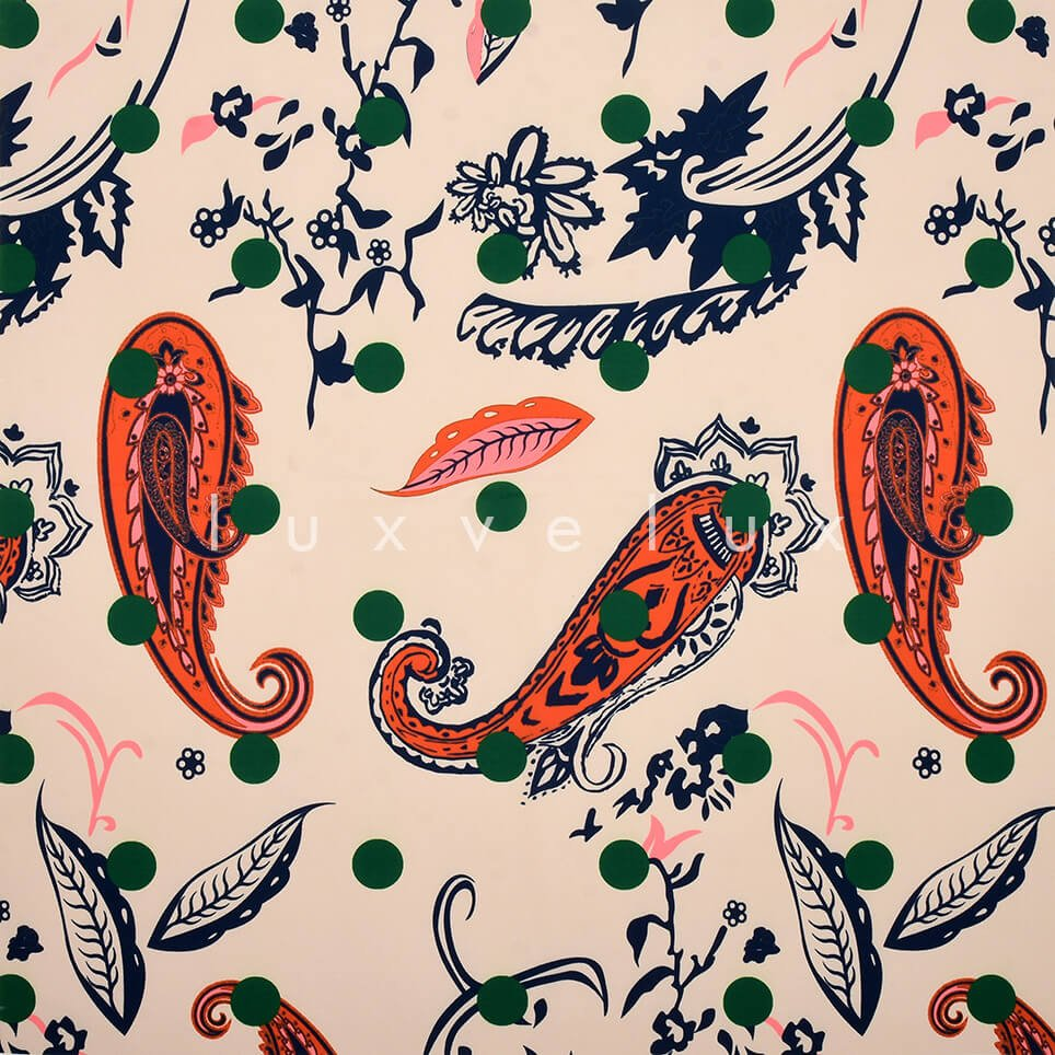 Paisley Pattern Points Pink Green