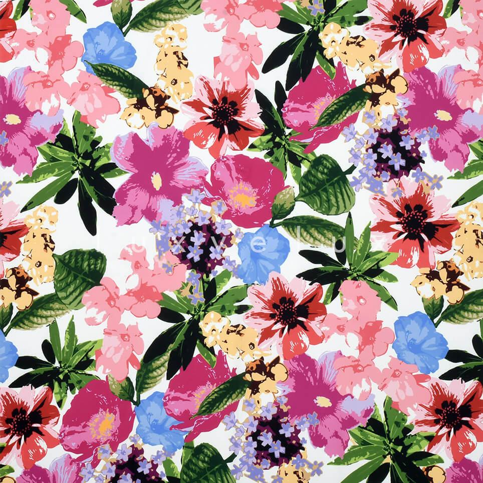 Pastel Color Flowers Backdrop Ecru