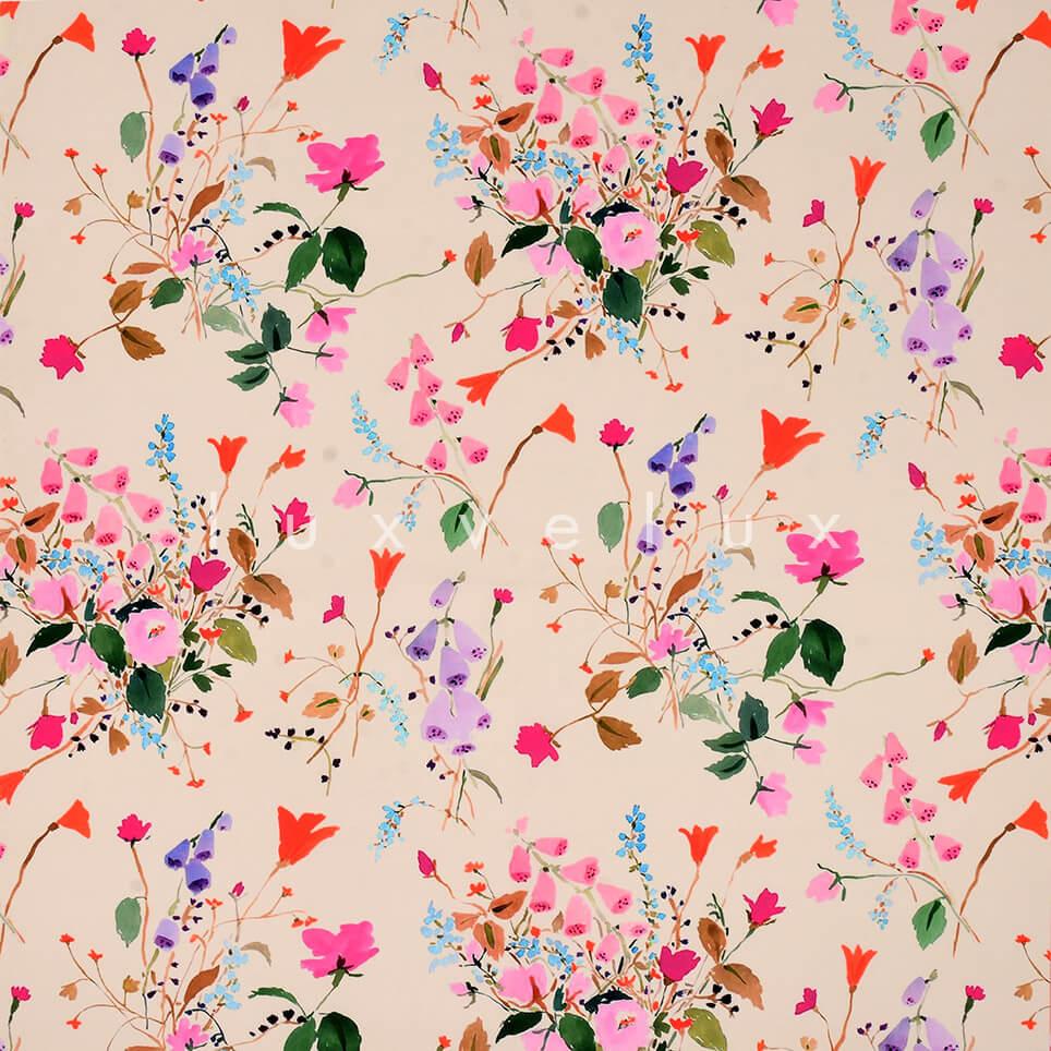 Pink Ground Sparse Flowers
