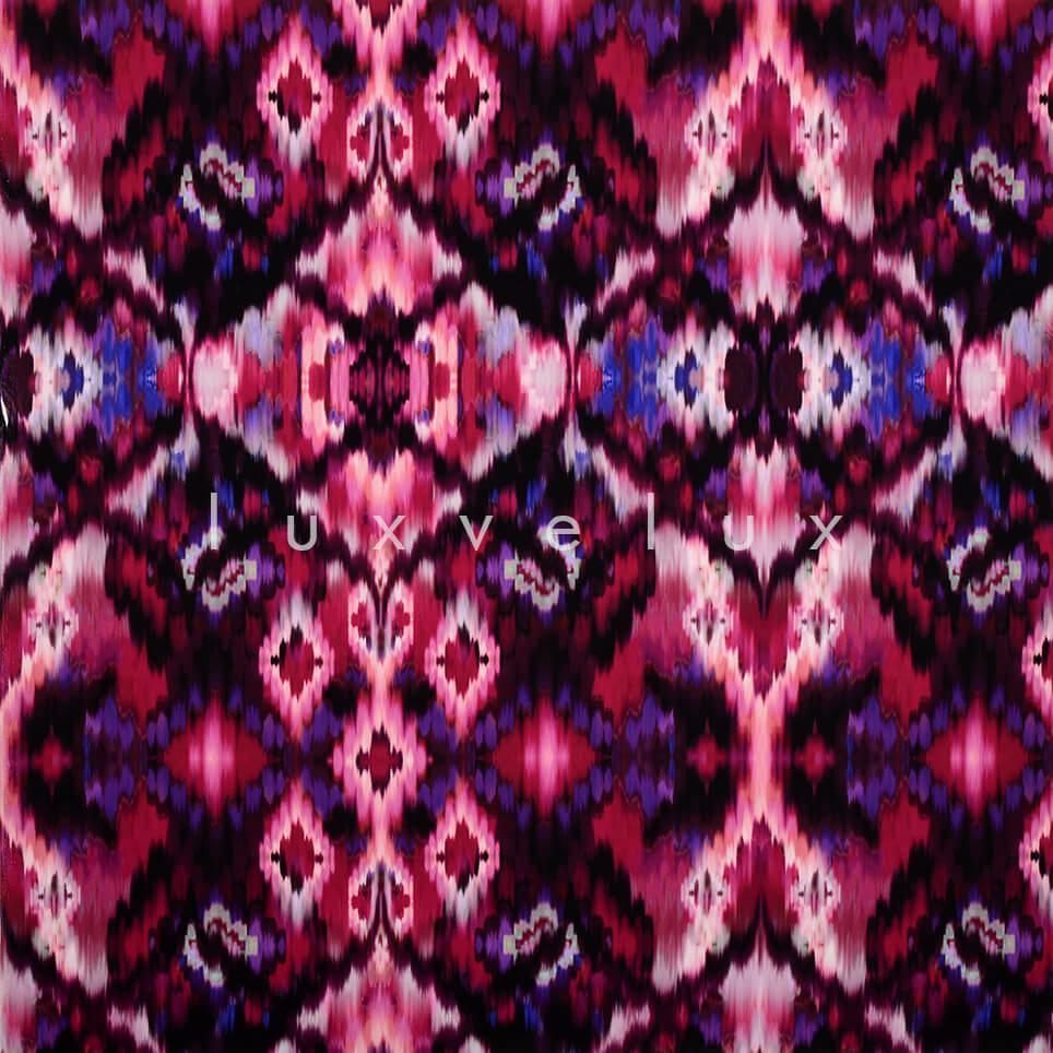 Purple Backdrop Ethnic Pattern