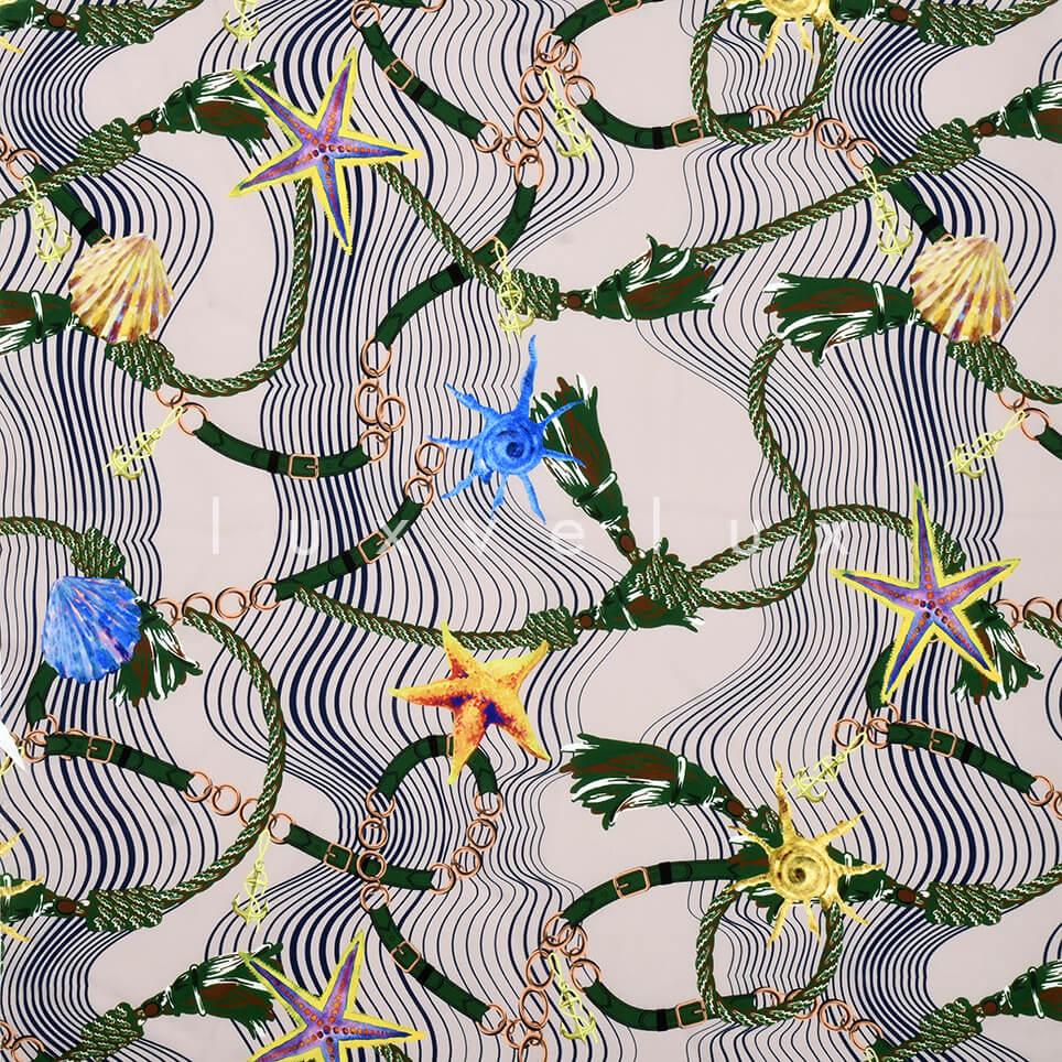 Sea Shells Magenta Pattern