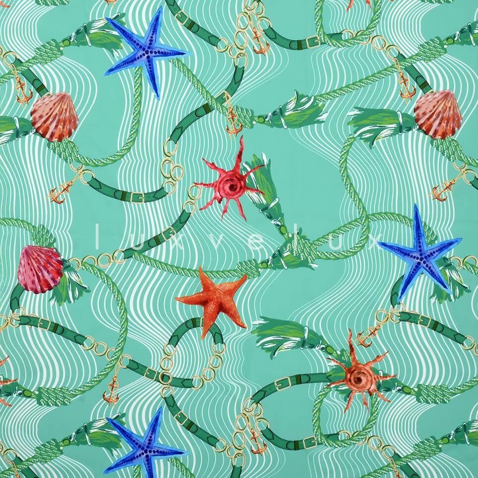 Sea Shells Pattern Mint