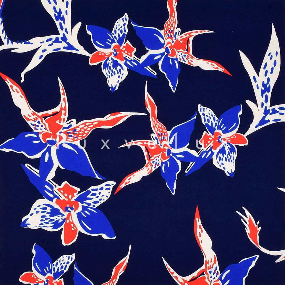 Star Flower on Dark Blue Background