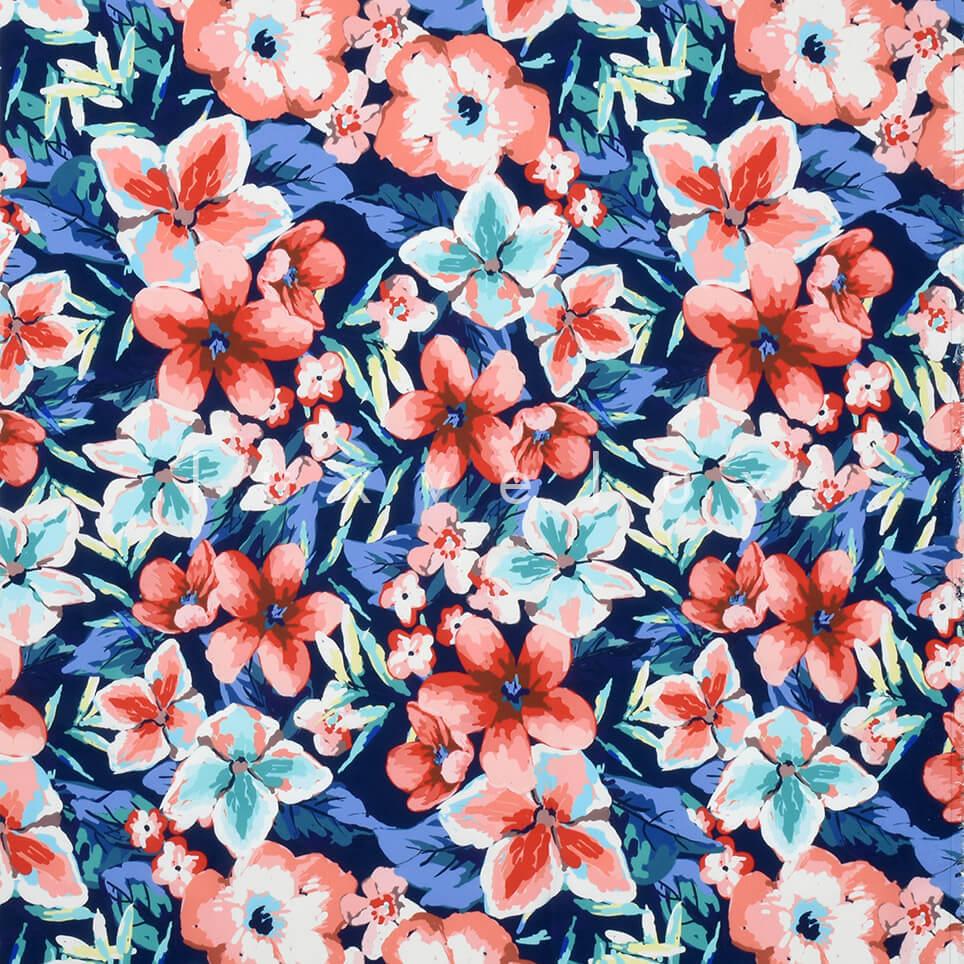 Violet Pattern Blue Floor Tile