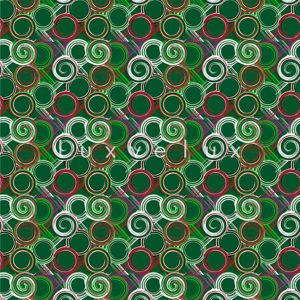 Endless Rings Ground Green Red White Ava