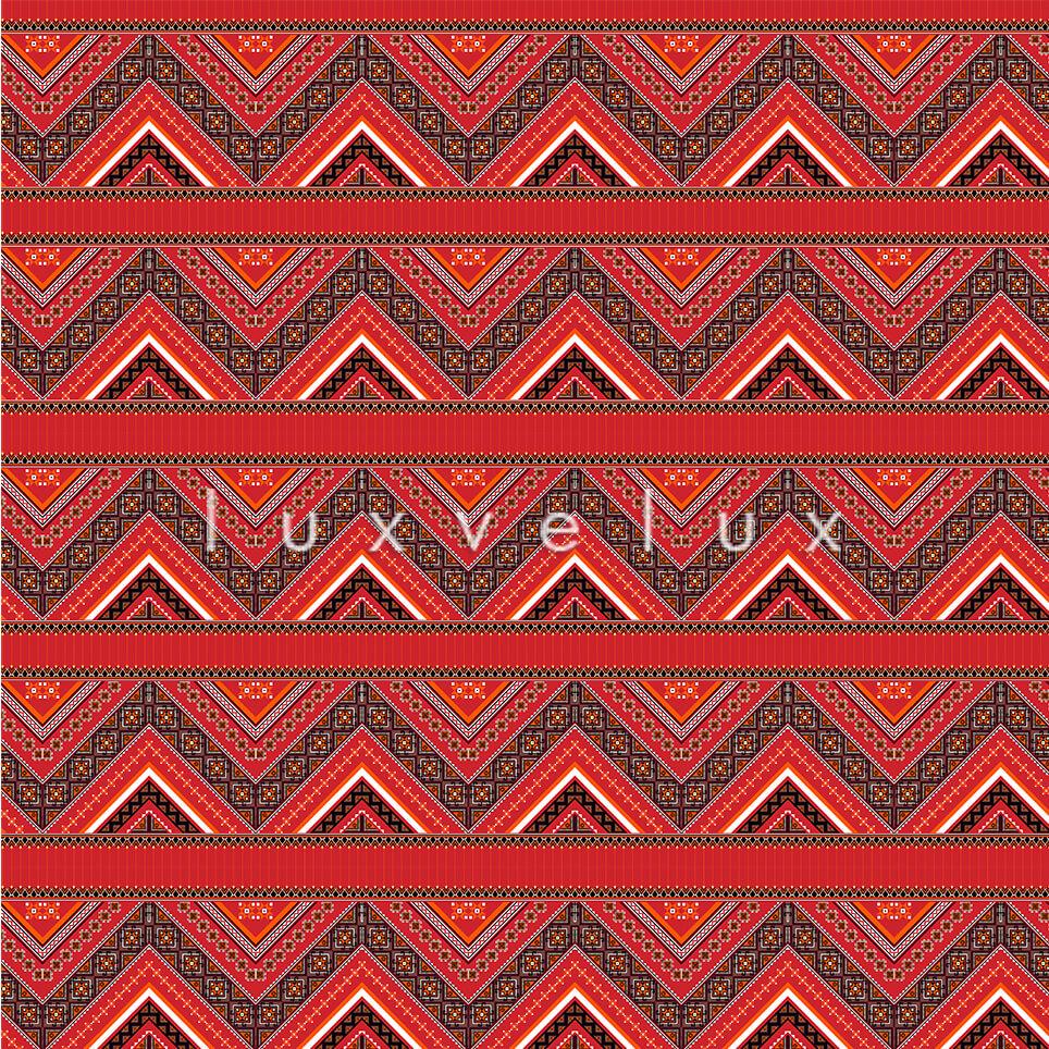 Ethnic Zigzag Pattern Orange Purple Felicia