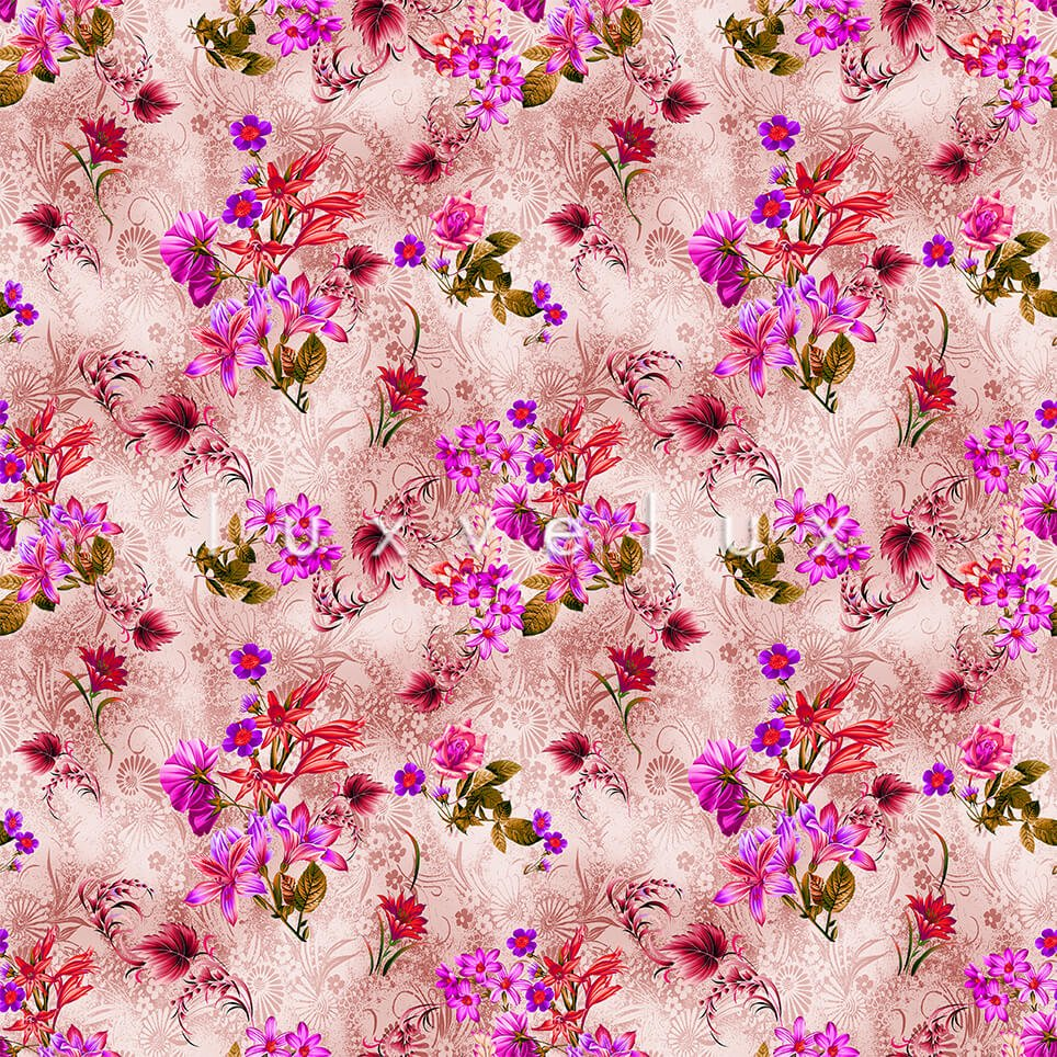 Fence Pattern Blouse Ground Fuchsia Floral Fuchsia Lucy