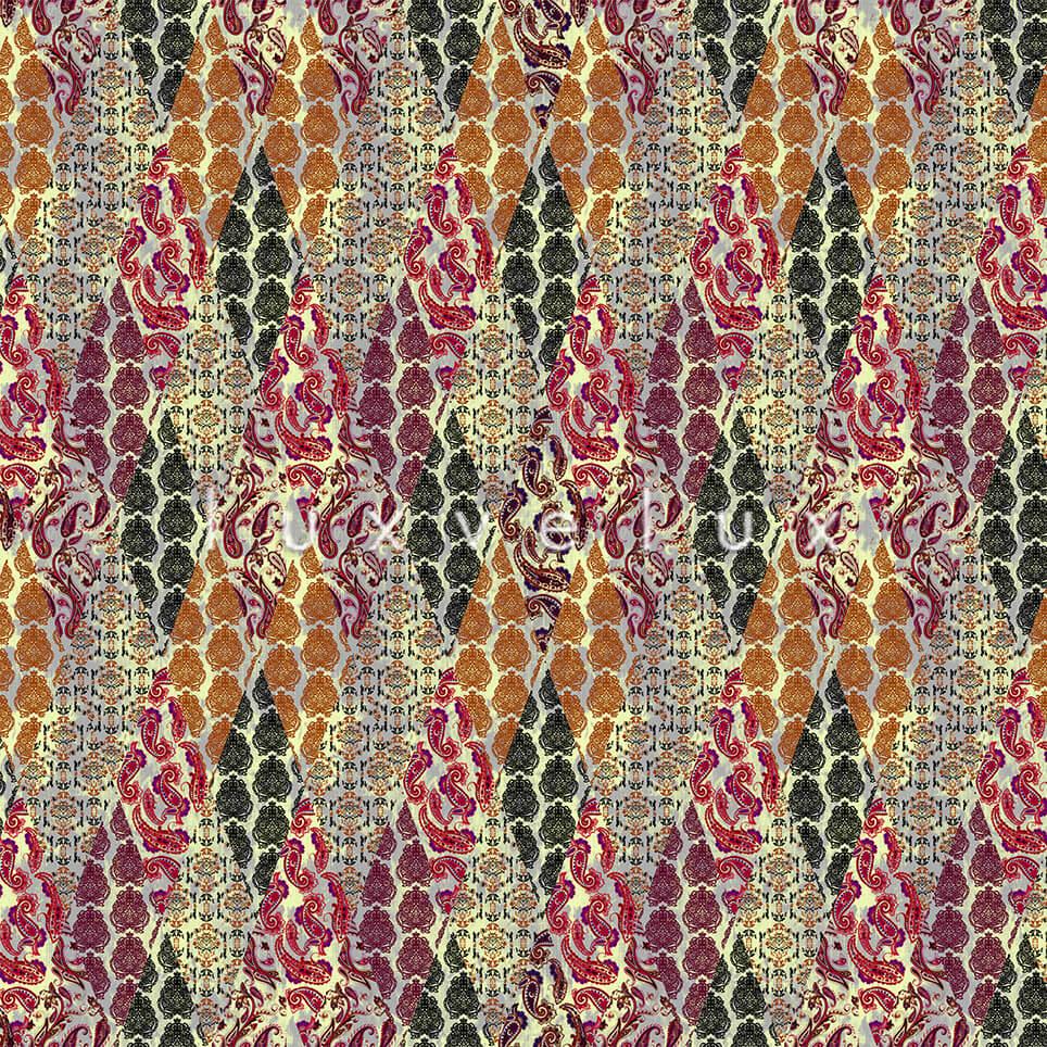 Geometry Shawl Pattern Fuchsia Purple Emma