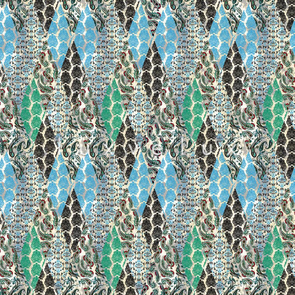 Geometry Shawl Pattern Turquisa Green Emma