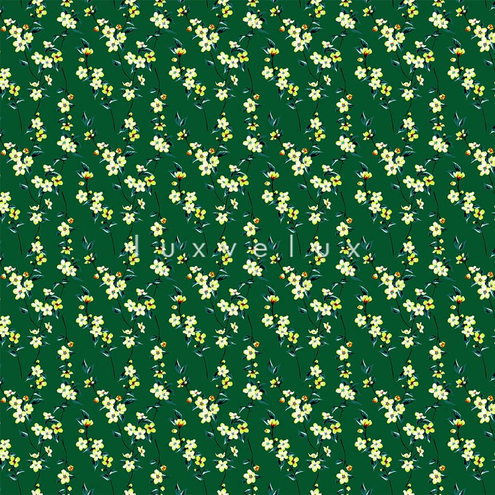 Ground Green Multi Leaf Pattern Dolly