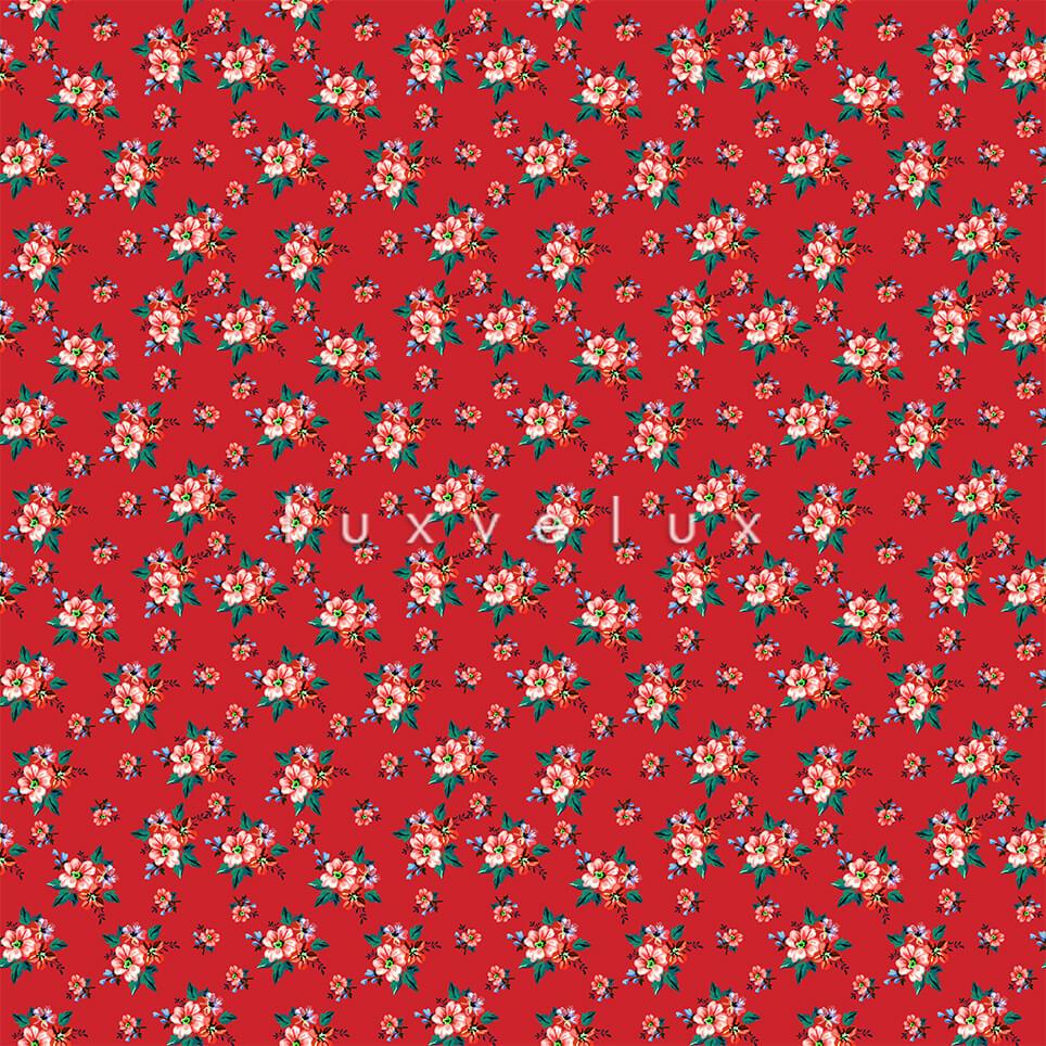 Ground Red Little Salmon Flower Candy