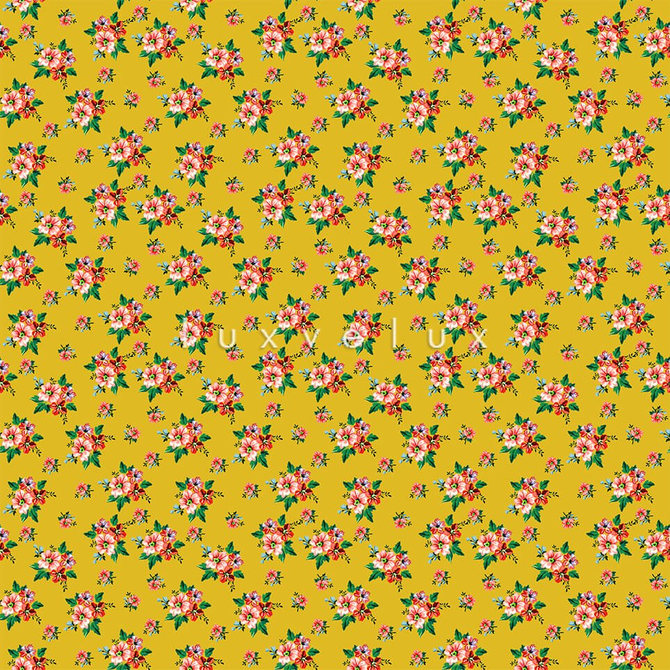 Ground Yellow Little Fuchsia Flower Candy