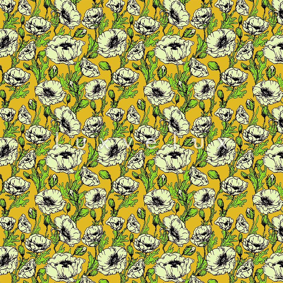 Hand Drawing Pattern Backdrop Yellow Larissa