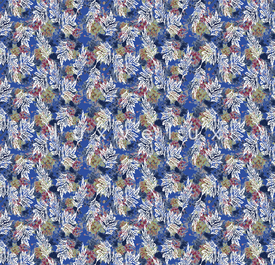 Juicy Painted Ground Blue Flower Ariana