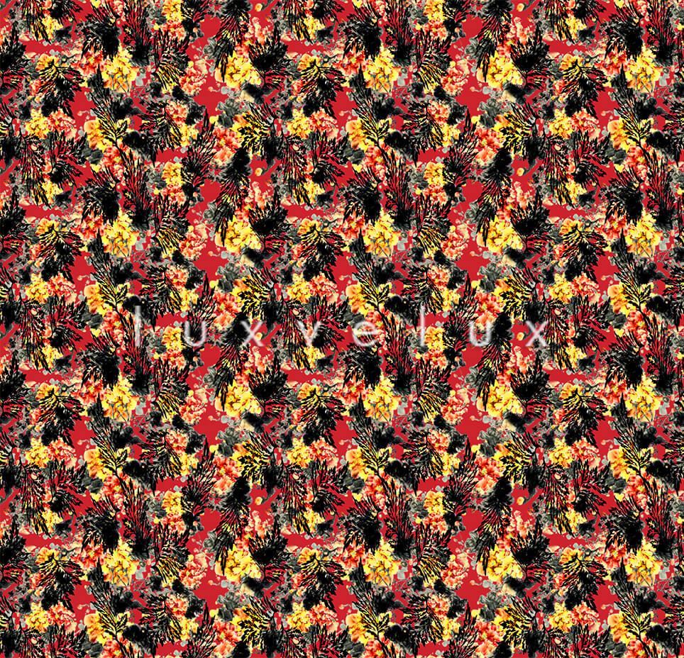 Juicy Painted Ground Red Flower Yellow Ariana