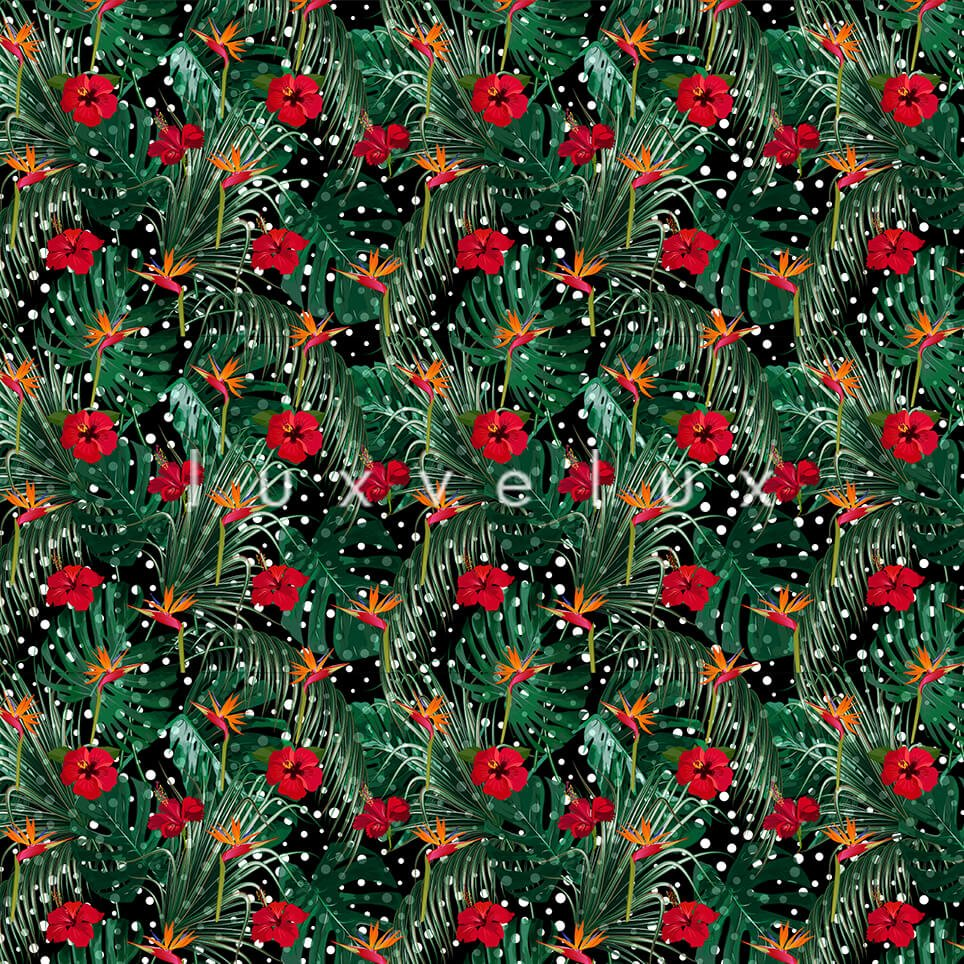 Large Leaf Light Red Flowers Ground Points Jessica