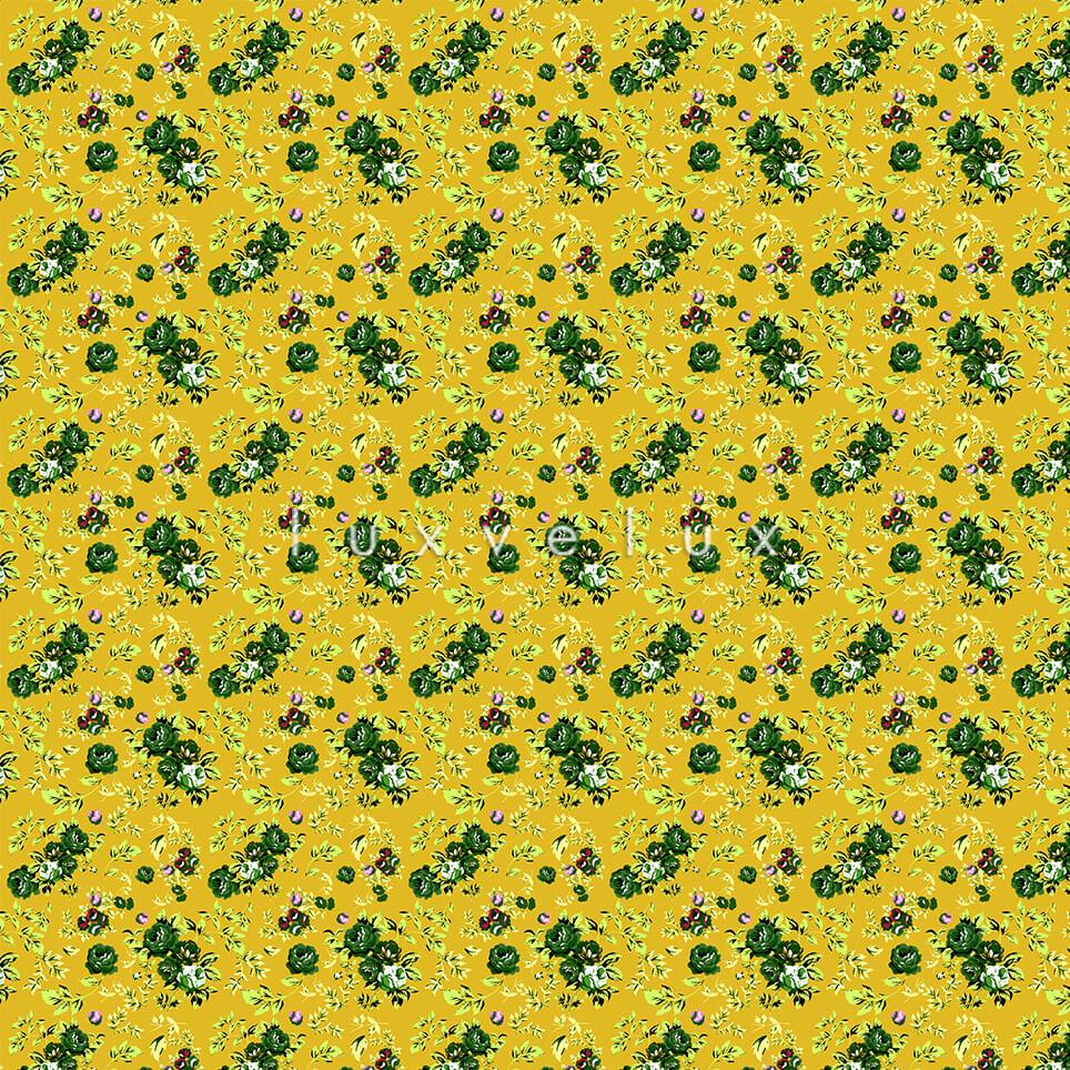 Mixed Skirt Pattern Ground Yellow Diana