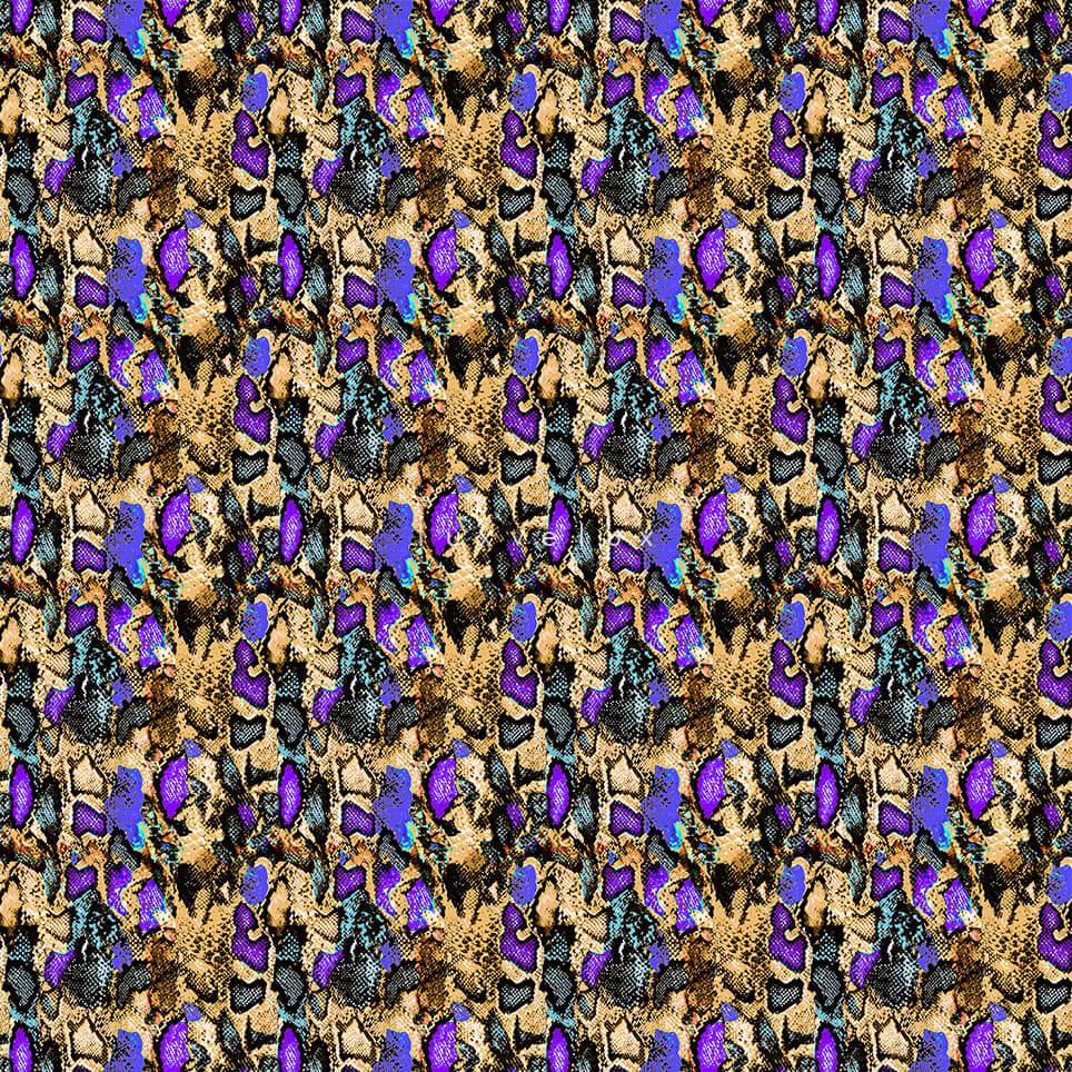 Neon Color Leopard Pattern Purple Gretta