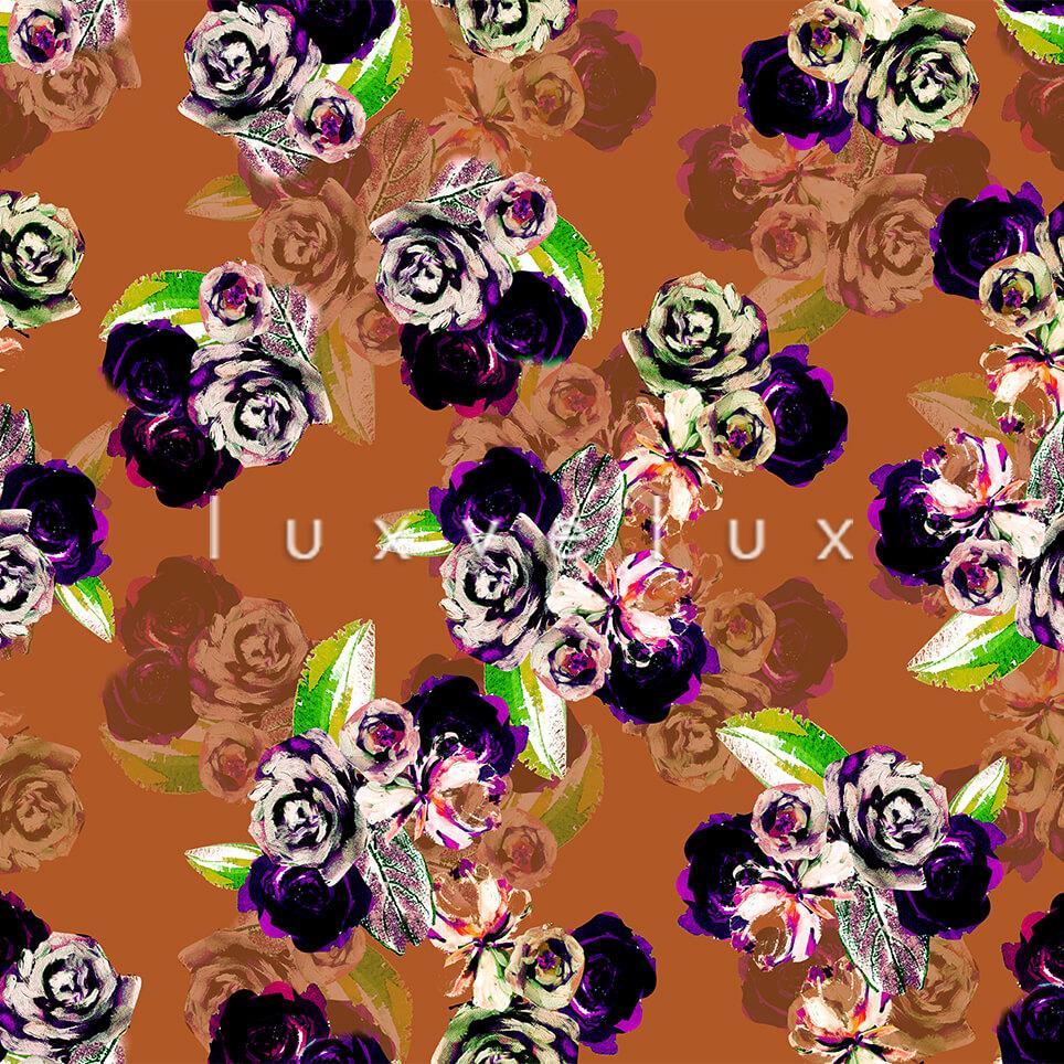Pastel Shaded Pattern Backdrop Brawn Flower Blue Lorie