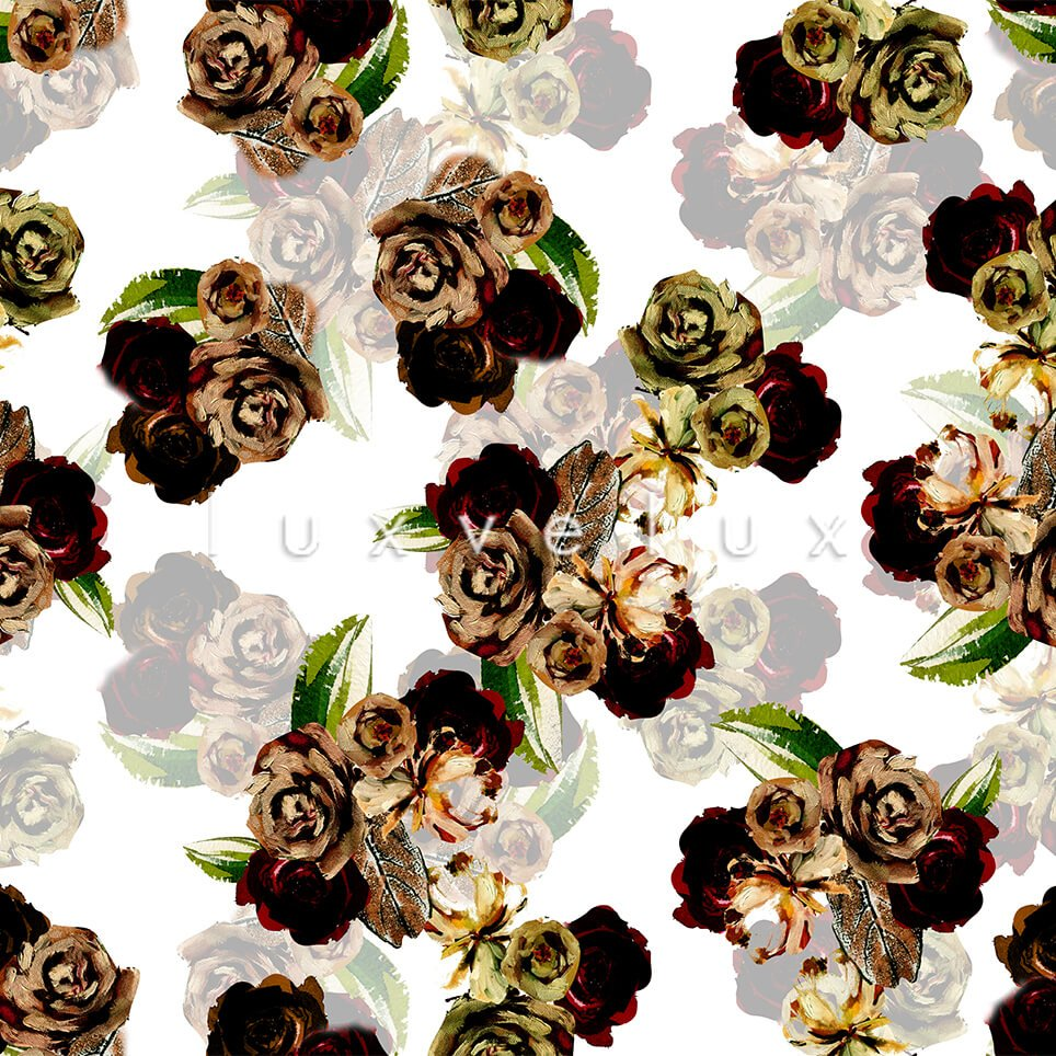 Pastel Shaded Pattern Backdrop White Flower Red Lorie