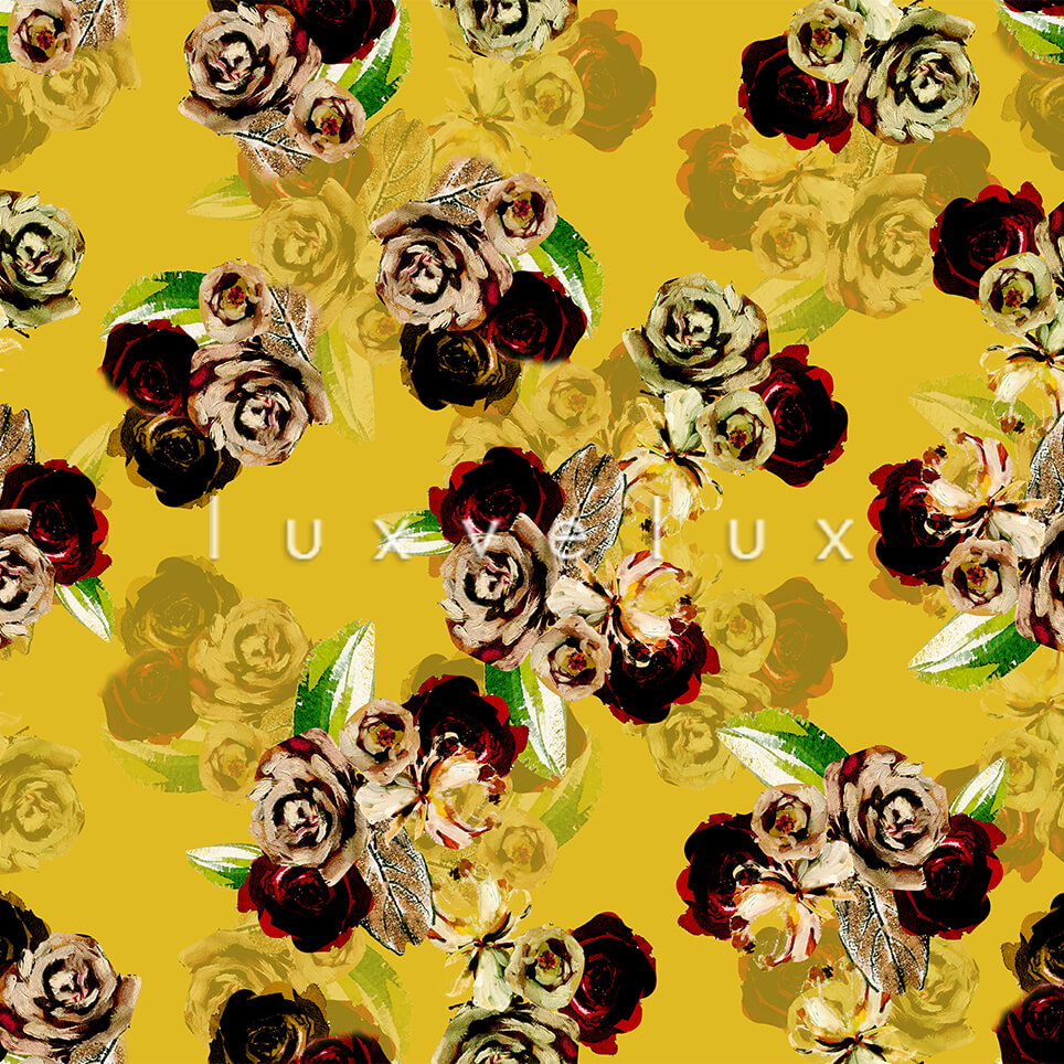 Pastel Shaded Pattern Backdrop Yellow Flower Red Lorie