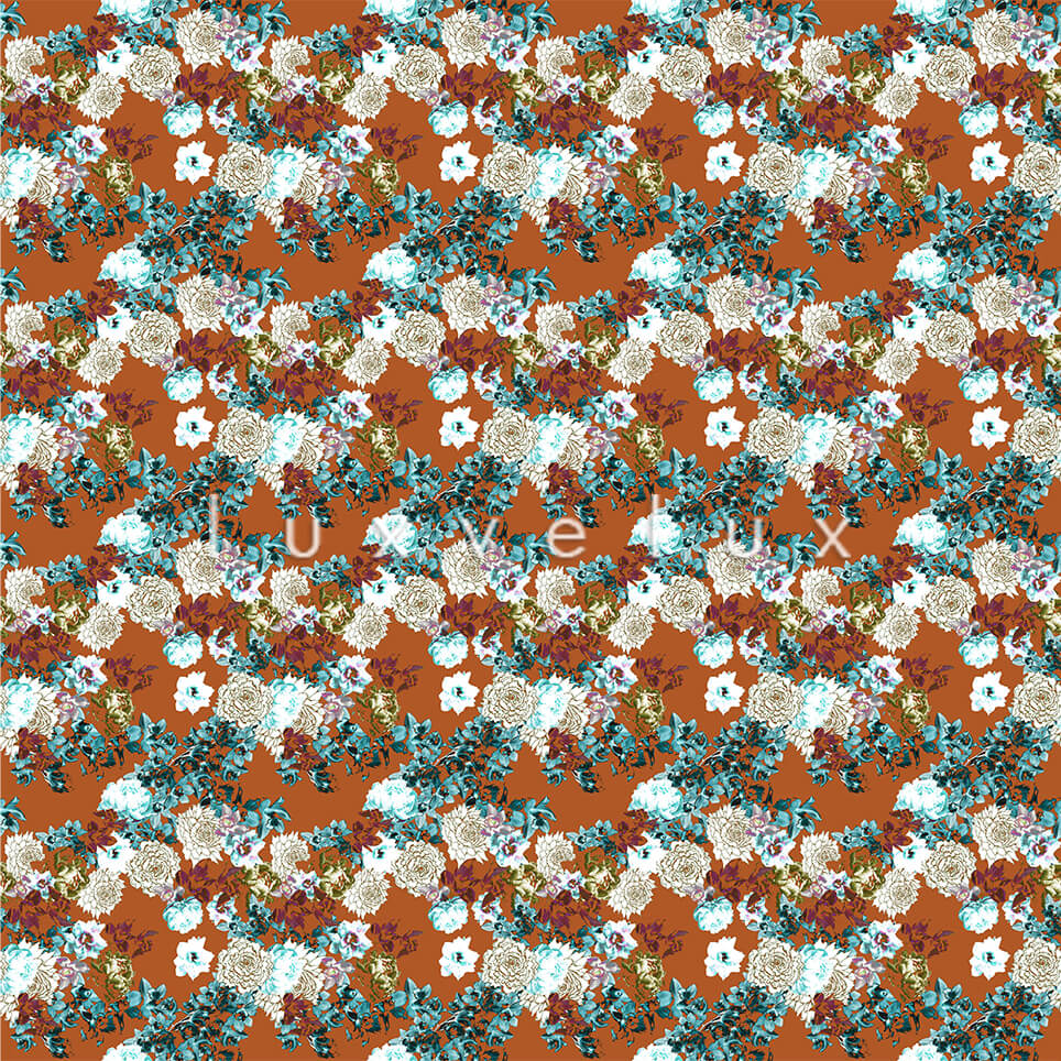 Pattern Ground Orange Flowers Pink Lesley