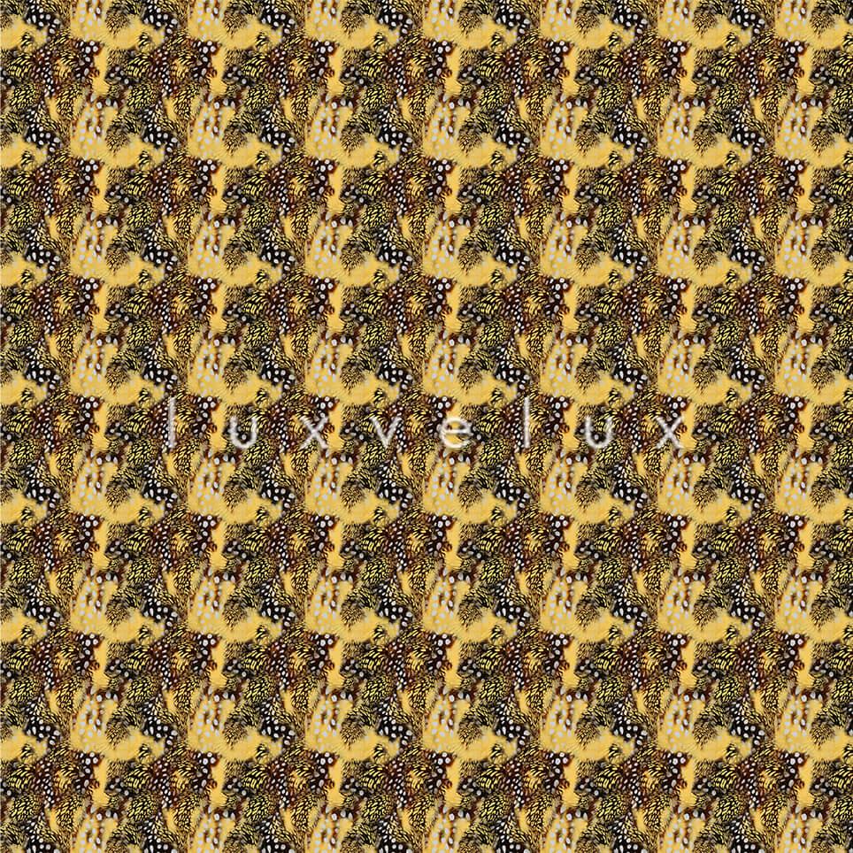 Points Leopard Pattern Ground Ecru Yellow Elisa
