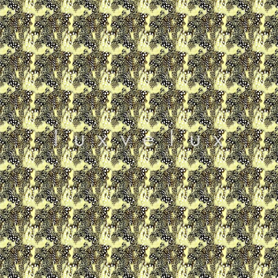 Points Leopard Pattern Ground Light Yellow Elisa