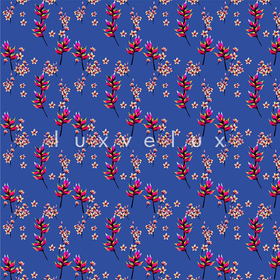 Poppy Flower Ground Blue Flower Fuchsia Helena