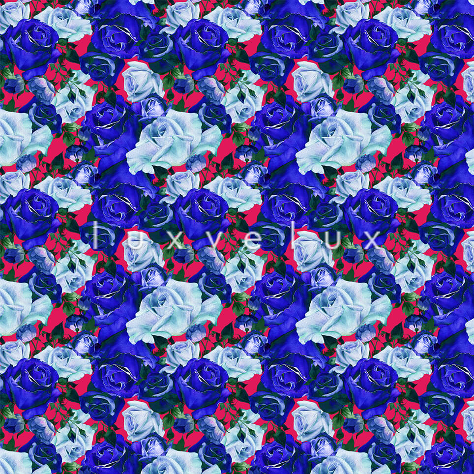 Rose Garden Roses Sax Light Blue Kitty