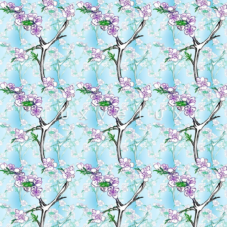 Rowed Trees Shaded Ground Light Mint Layla