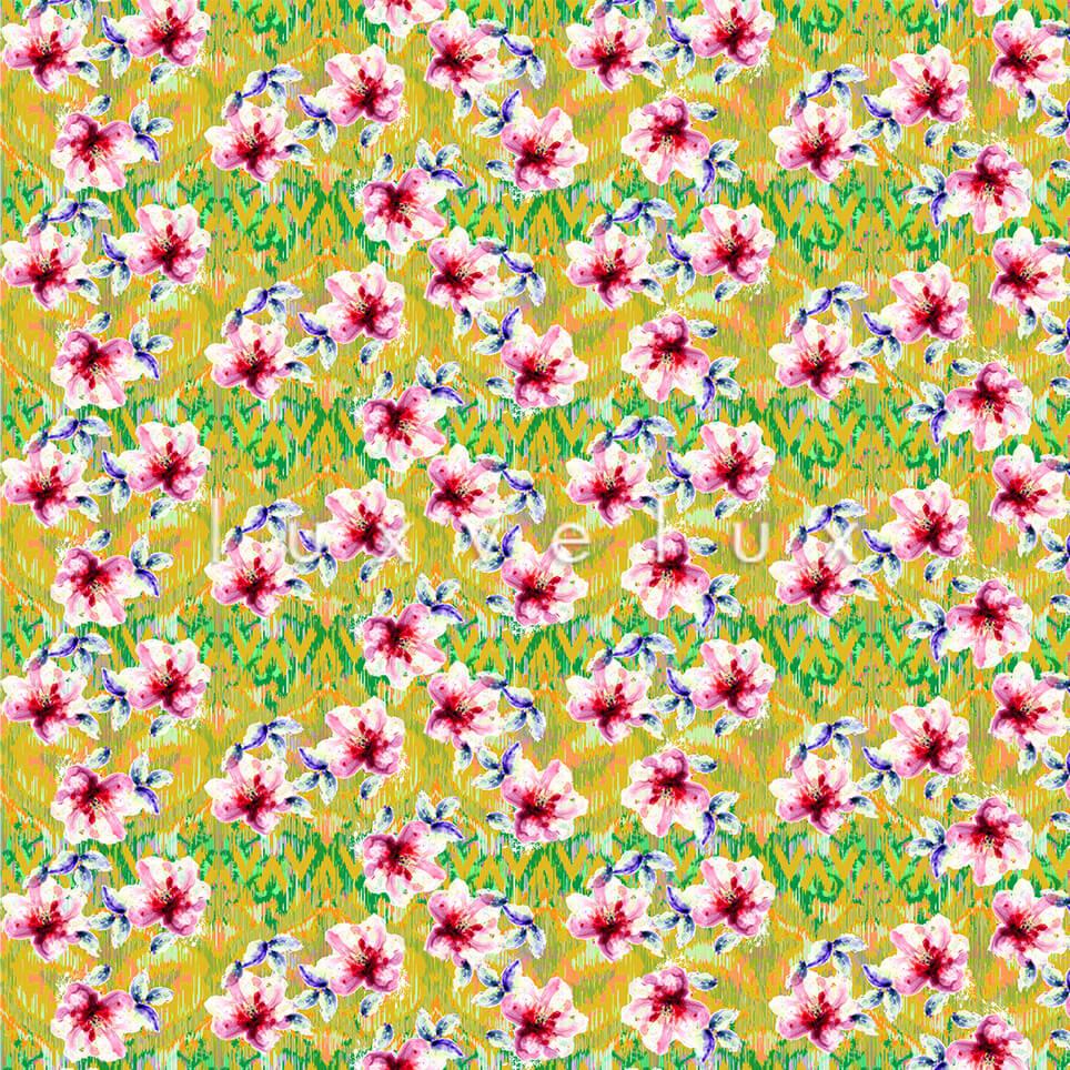 Saffron Background Fuchsia Flower Sophia