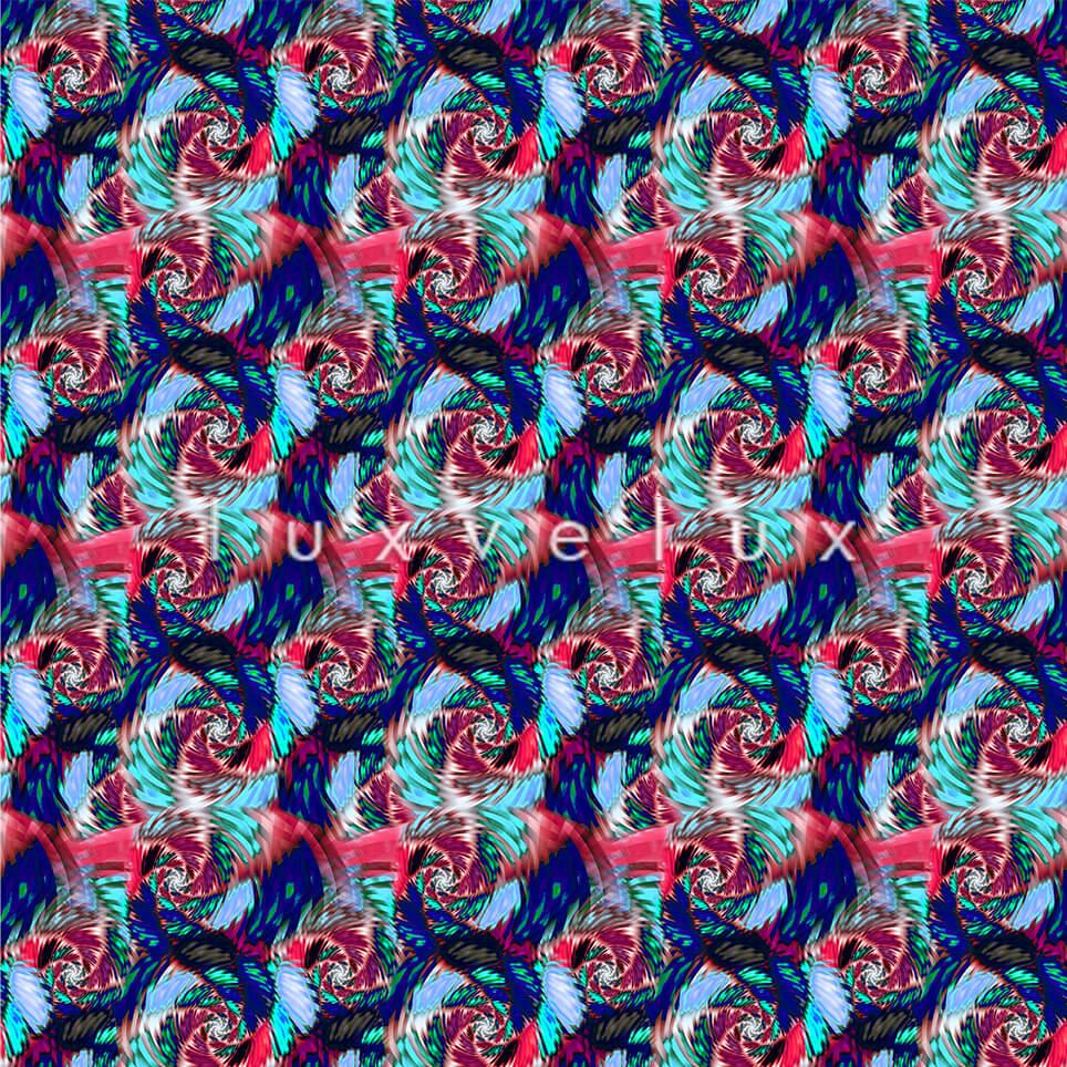 Seahorse Pattern Colorful Ground Blue Jennifer
