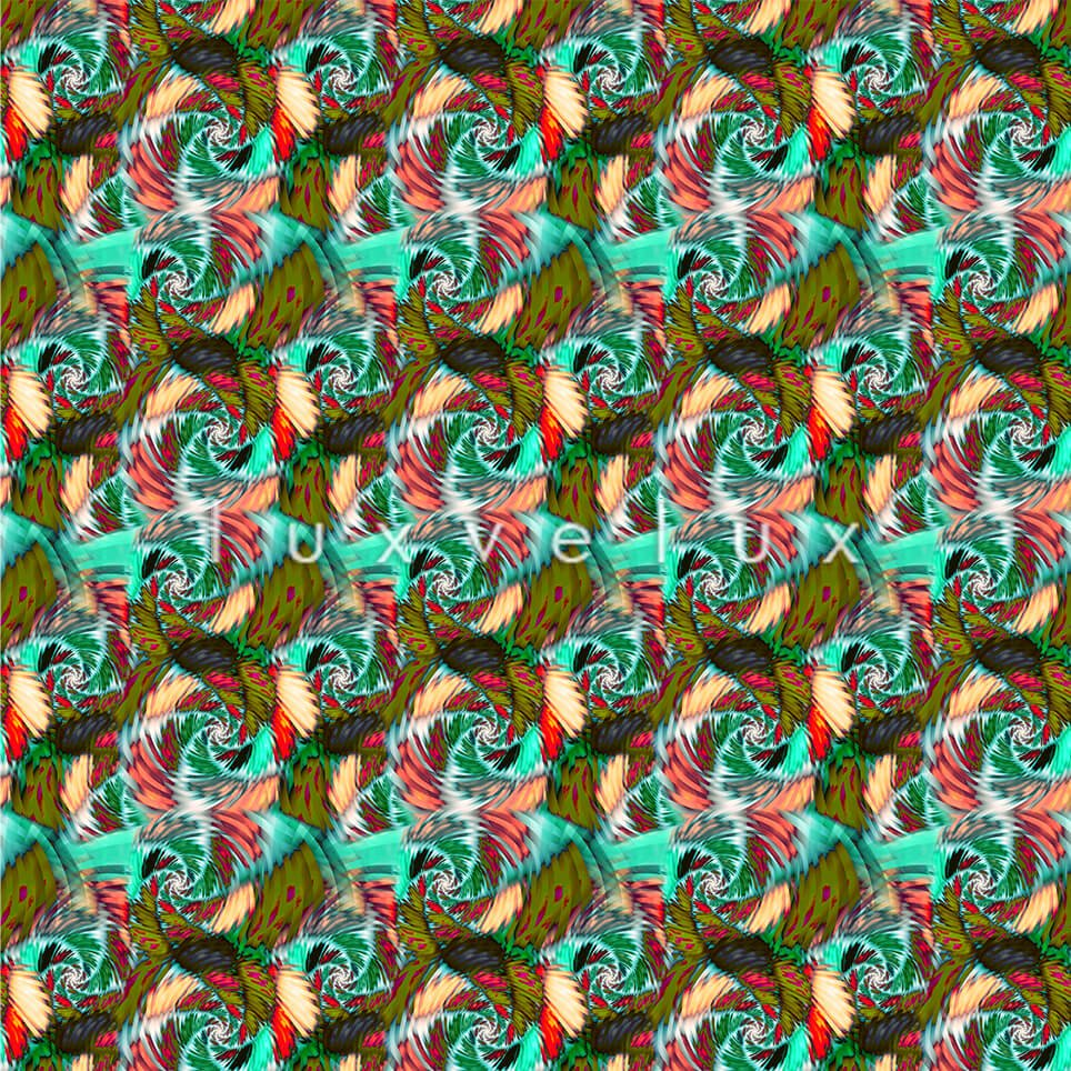 Seahorse Pattern Colorful Ground Green Jennifer