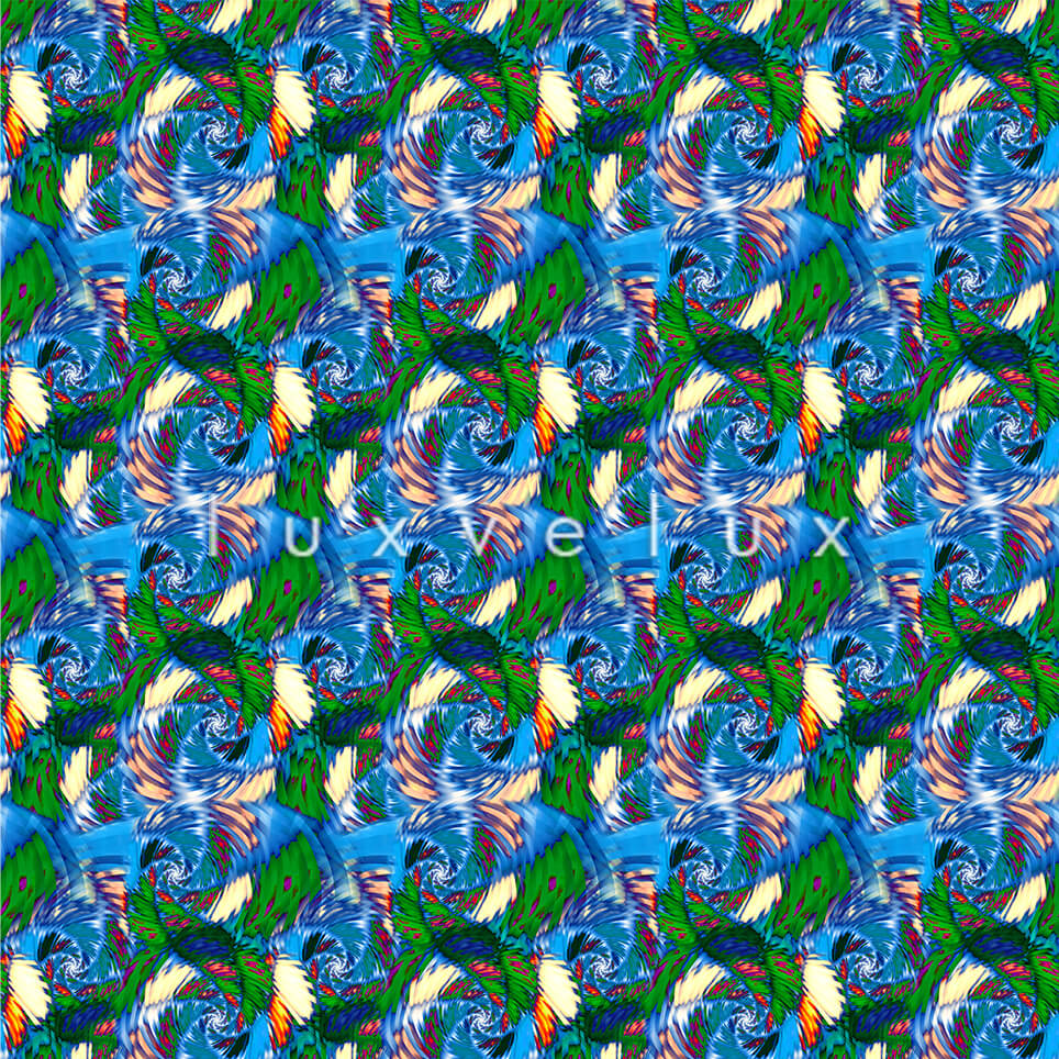 Seahorse Pattern Colorful Ground Light Blue Jennifer