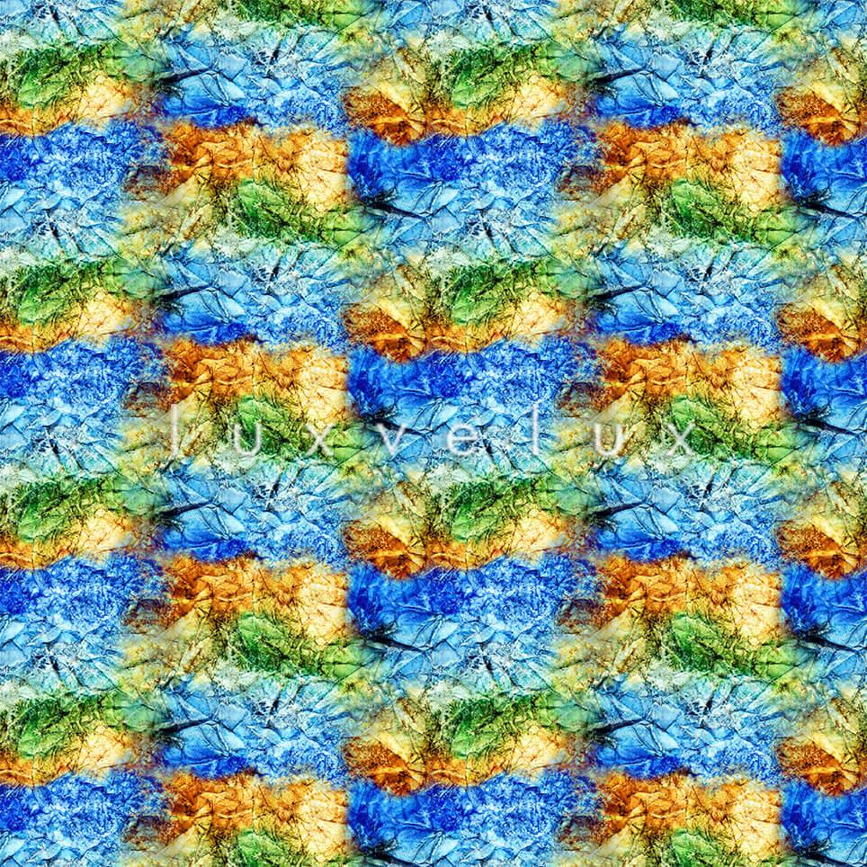 Symmetry Gradient Blue Green July