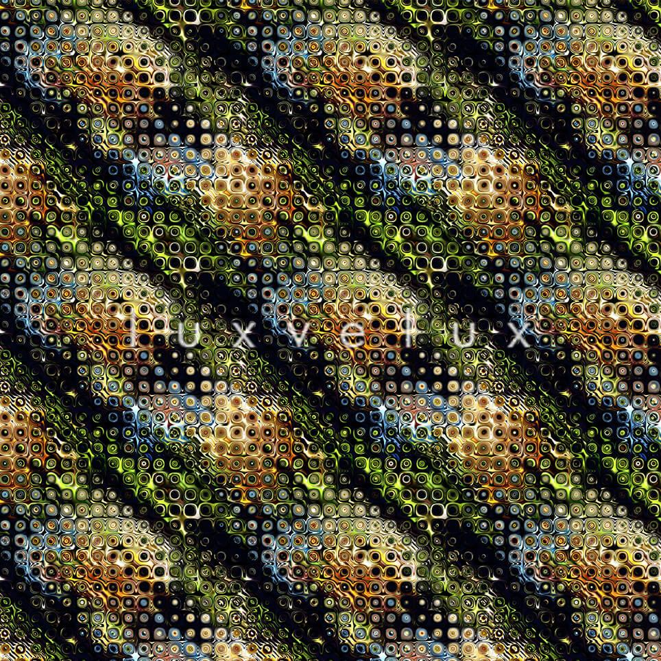 Water Drop Pattern Floor Navy Blue Janet
